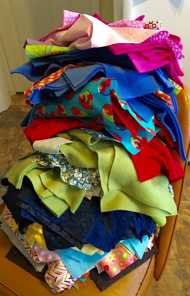 fabric-pile