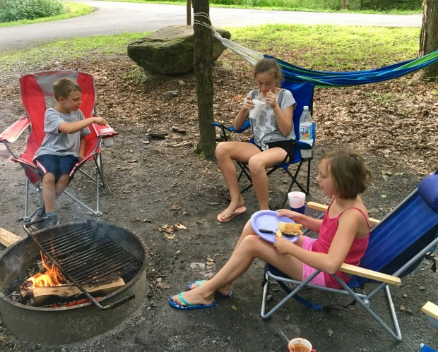 kids around fire