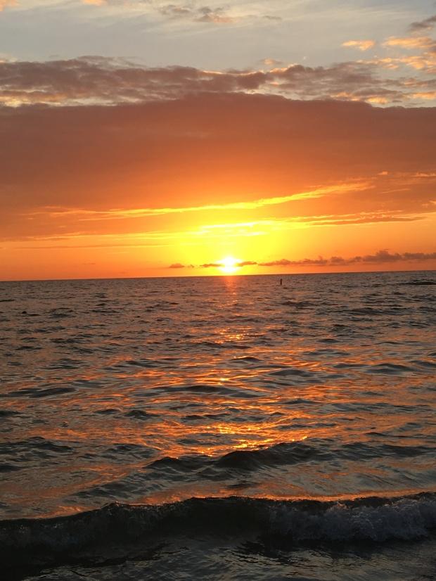 sunset at St Pete beach